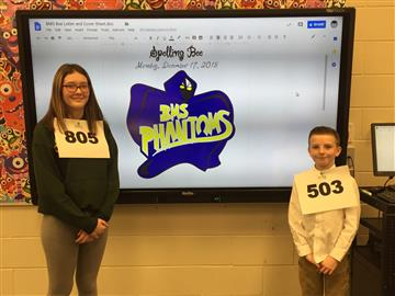Phabulous Spelling Bee Winners
