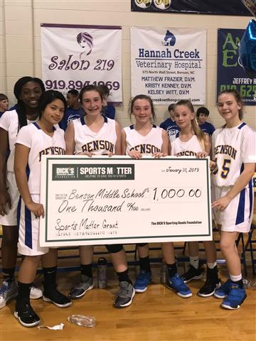 BMS Receives $1000 Sports Matter Grant