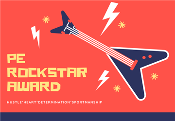 Physical Education's 5th Grade Rockstar Award