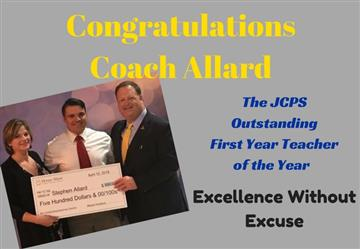 JCPS Honors Mr. Stephen Allard