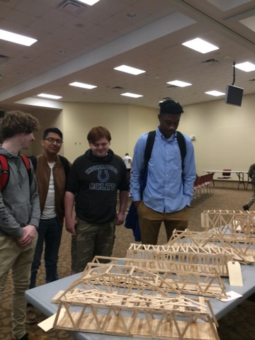 Engineering students compete in Griffols bridge building content