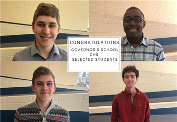 Four CHS Students Selected for Governor's School