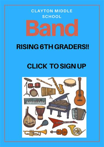 Sign up form for rising 6th graders