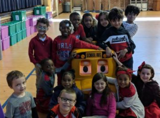Buster the Bus visits Cooper Academy