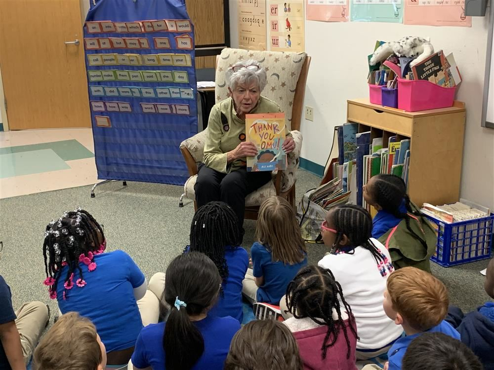 The Women's Club of Clayton Helped Promote Reading with First Grade Students