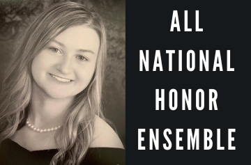 Madi Hunter with All-National Honor Ensemble