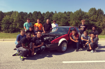 Automotive students from CHHS