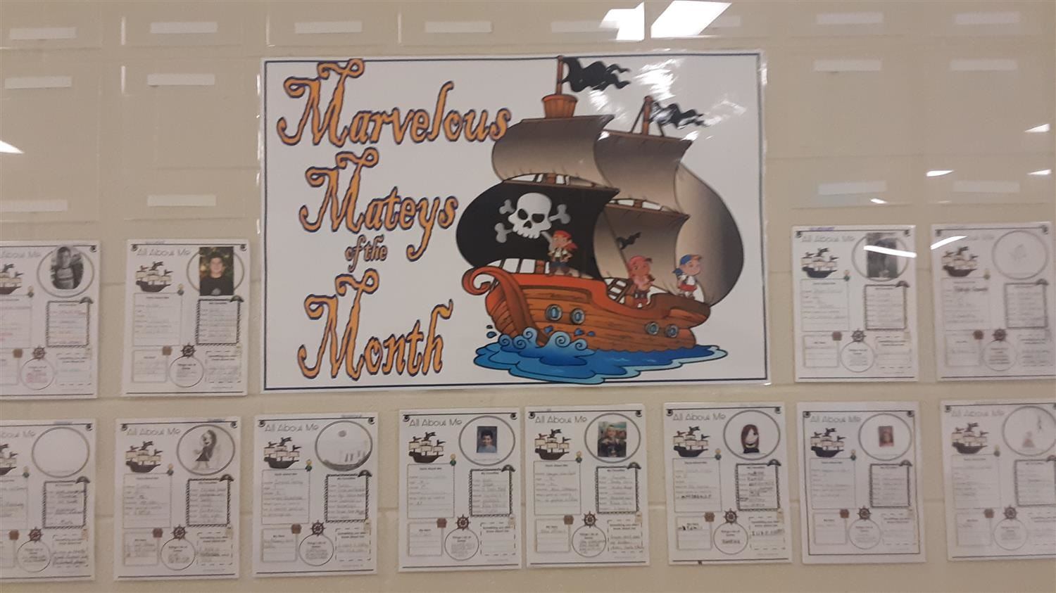 Student of the Month Display
