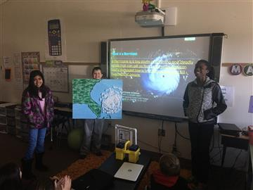 Fourth Grade Collaborates to Learn About Natural Disasters