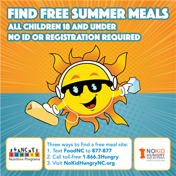 Free Meals Available to Students Over Summer