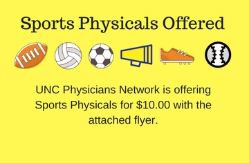 sports physicals offered