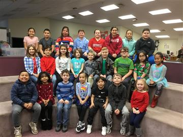 These students were chosen to represent their class as the February Terrific Kids.