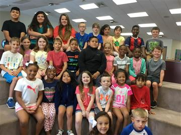 These students were chosen to represent their class as the May Terrific Kids.