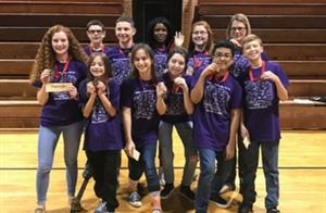 Swift Creek Battle of the Books Team Places Second