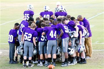 Swift Creek Middle Football Team Plays Inaugural Game
