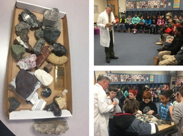 Geologist visits Mrs. Smith's 4th grade class