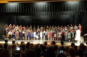 McGee's 5th Grade Students attend the Fifth Annual All County Chorus