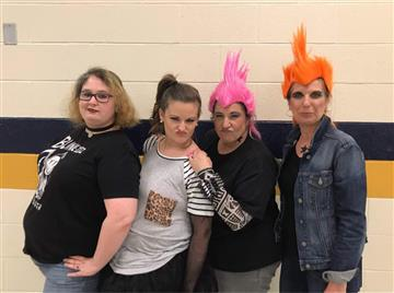 Rocking out with our Adult Spelling Bee Team!