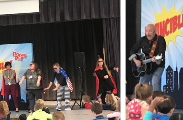 PTA Sponsored Cultural Arts Program Features Roger Day for Kindergarten and 1st grade students.