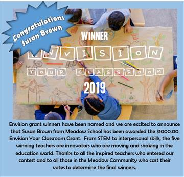 Mrs. Brown Wins Envision Grant