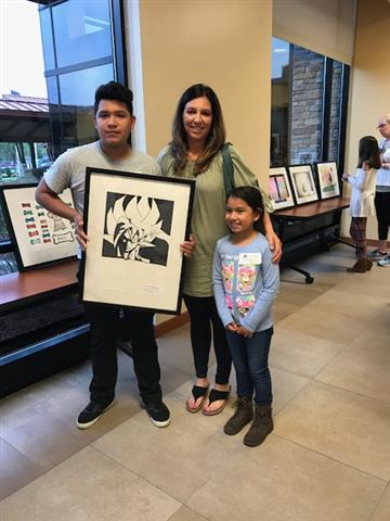 Meadow Students' Artwork on Display at Johnston Health, Clayton