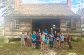 Third graders took a field trip to the birthplace of Charles B. Aycock.