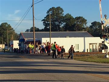 Students Walk to School Together