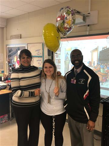 Prossard NoJo's 1st Year Teacher of the Year!