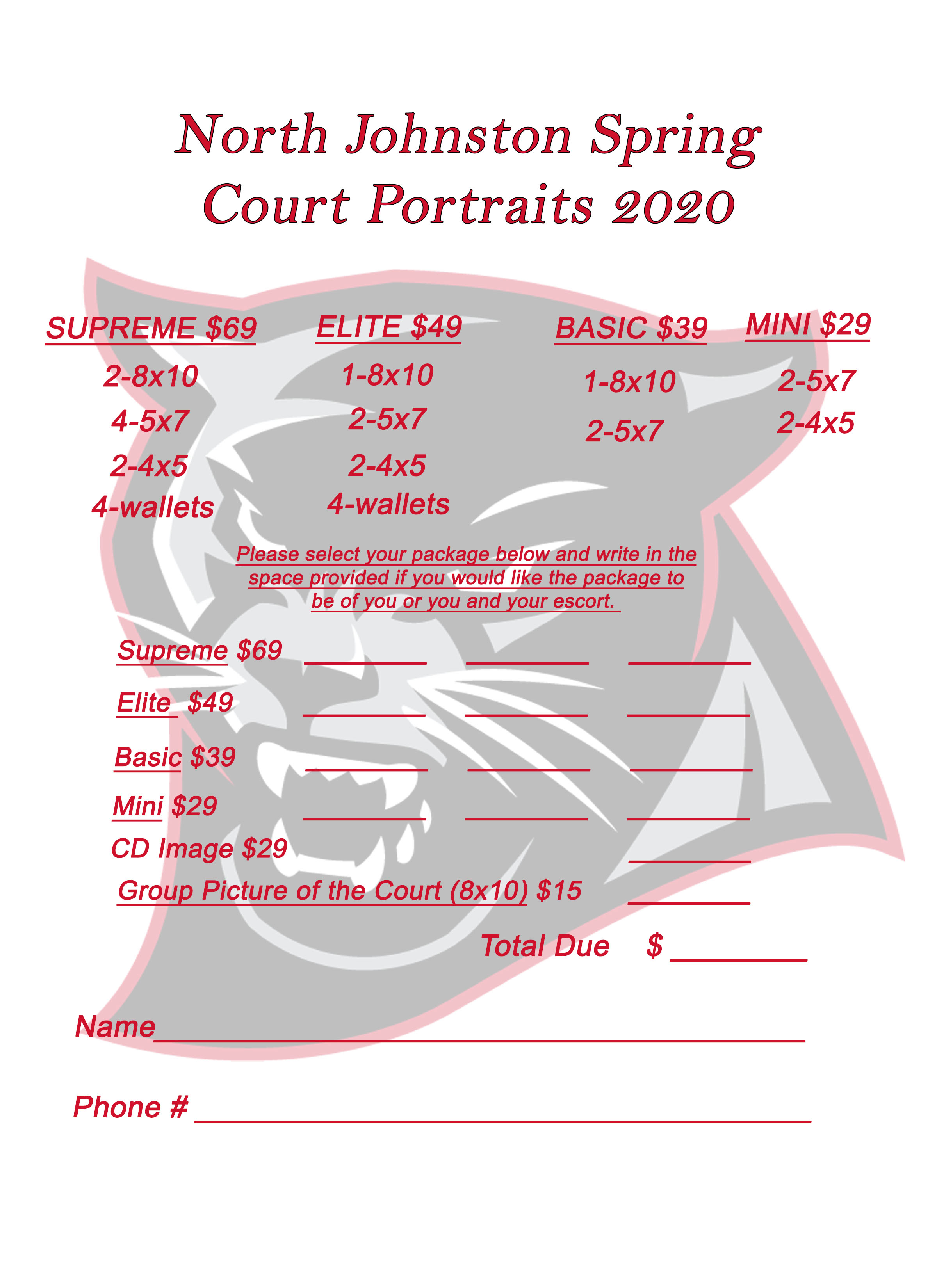 Spring Court Photo Packages