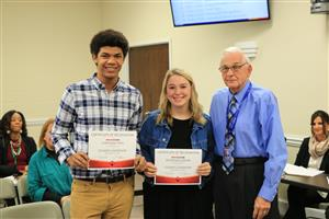 NJHS Students Recognized at Nov. Board Meeting