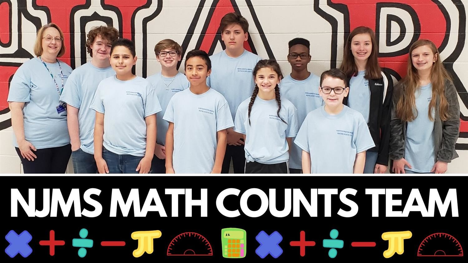 MATHCOUNTS TEAM COMPETES IN DISTRICT COMPETITION