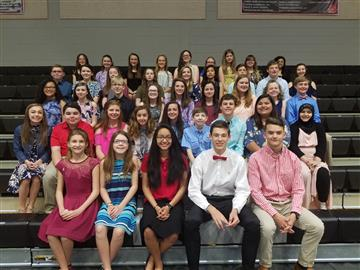 NJMS Holds National Junior Honor Society Spring Induction Ceremony