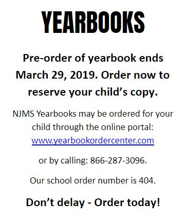 Yearbooks on Sale Until 3/29
