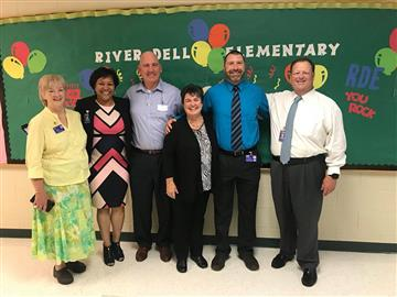 Board Visits RDE on First Day of School