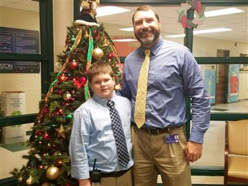 Fourth Grader acts as Principal for a Day
