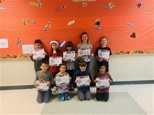 First Grade December Student of the Month