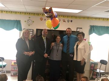 RDE Third Grade Teacher is Employee of the Month for the County