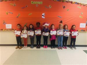 Kindergarten December Student of the Month