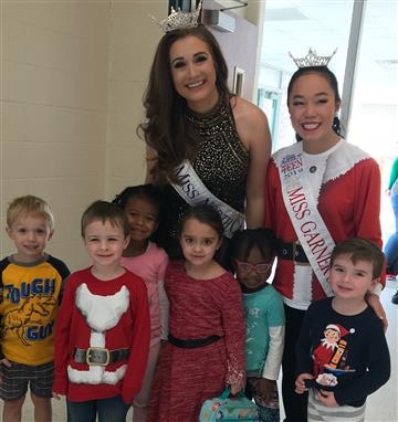 Miss NC and Miss Garner Visit RDE