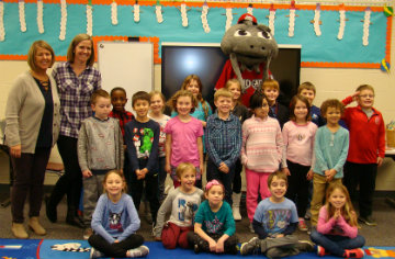 Muddy Visits Ms. Strickland's Class
