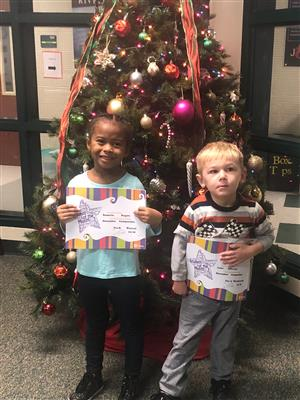Pre-K December Student of the Month