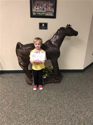 PreK March Student of the Month
