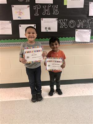 PreK Student of the Month