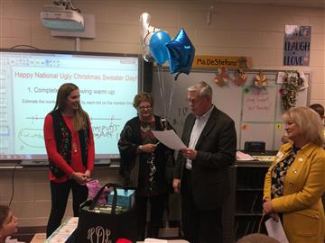 Clayton Chamber's SUPERSTAR Teacher of the Month!  Congratulations to Ms. DeStefano!