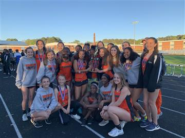 Lady Ravens Track Team - Conference Champs!