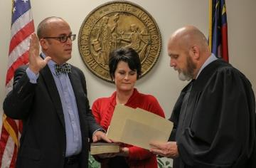 Sutton sworn in to Johnston County Board of Education