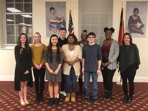 High school students from Johnston County Early College Academy, West Johnston High, Corinth Holders High, and Smithfield-Sel