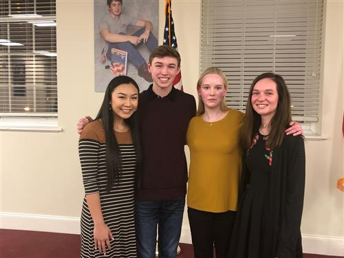 Four JCPS students participated in the Poetry Out Loud competition on Jan. 15.