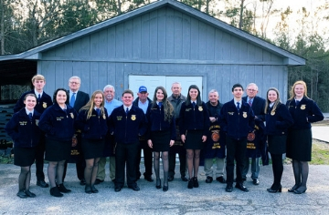 South Johnston High 1st and 50th FFA Officers unite