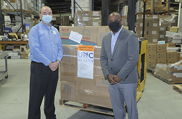 Johnston Health donated 10,000 KN95 masks to local schools